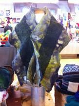 Silk cozies up with merino wool, chiffon and sari silk fibres.